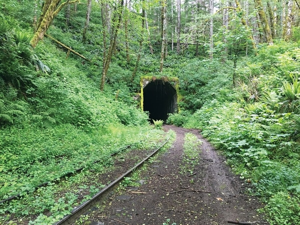 Tunnel 27 on the Salmonberry Trail. (Aaron Mesh)
