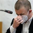 Micah Fletcher gives a victim impact statement on the second day of Jeremy Christian's sentence hearing on June 24, 2020. Christian fatally stabbed two men and seriously wounded Fletcher on a MAX train in 2017. Dave Killen/The Oregonian