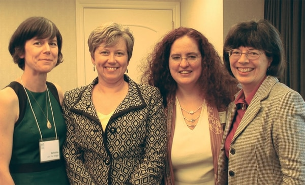 Lori Deveny  (second from right) and others at an OWLS event.