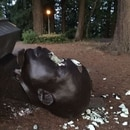 Photo sent to WW this morning depicting damage to the York bust.