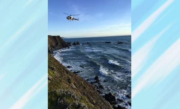 SUV plunge off cliff may have been intentional, California police say