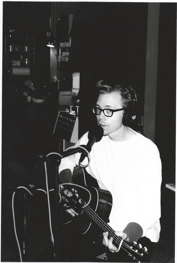Pete Krebs recording at Jackpot. IMAGE: Courtesy of Larry Crane.