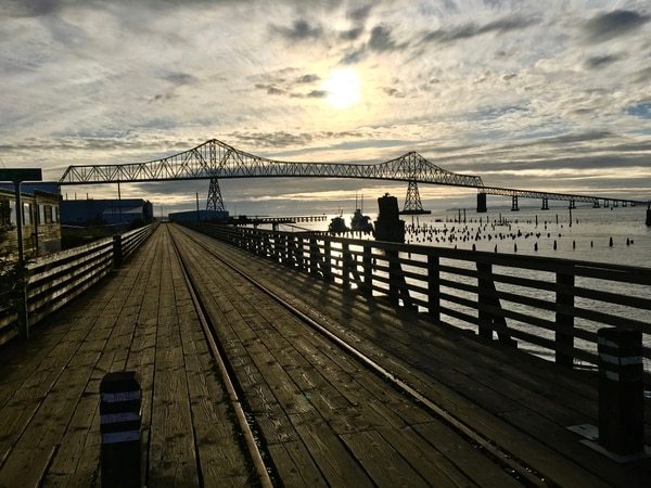 Astoria's trolley service is suspended, but walking the rails can be just as satisfying. Photo by Andi Prewitt.