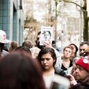 A March 22 protest of the killing of Portland teenager Quanice Hayes. (Thomas Teal)
