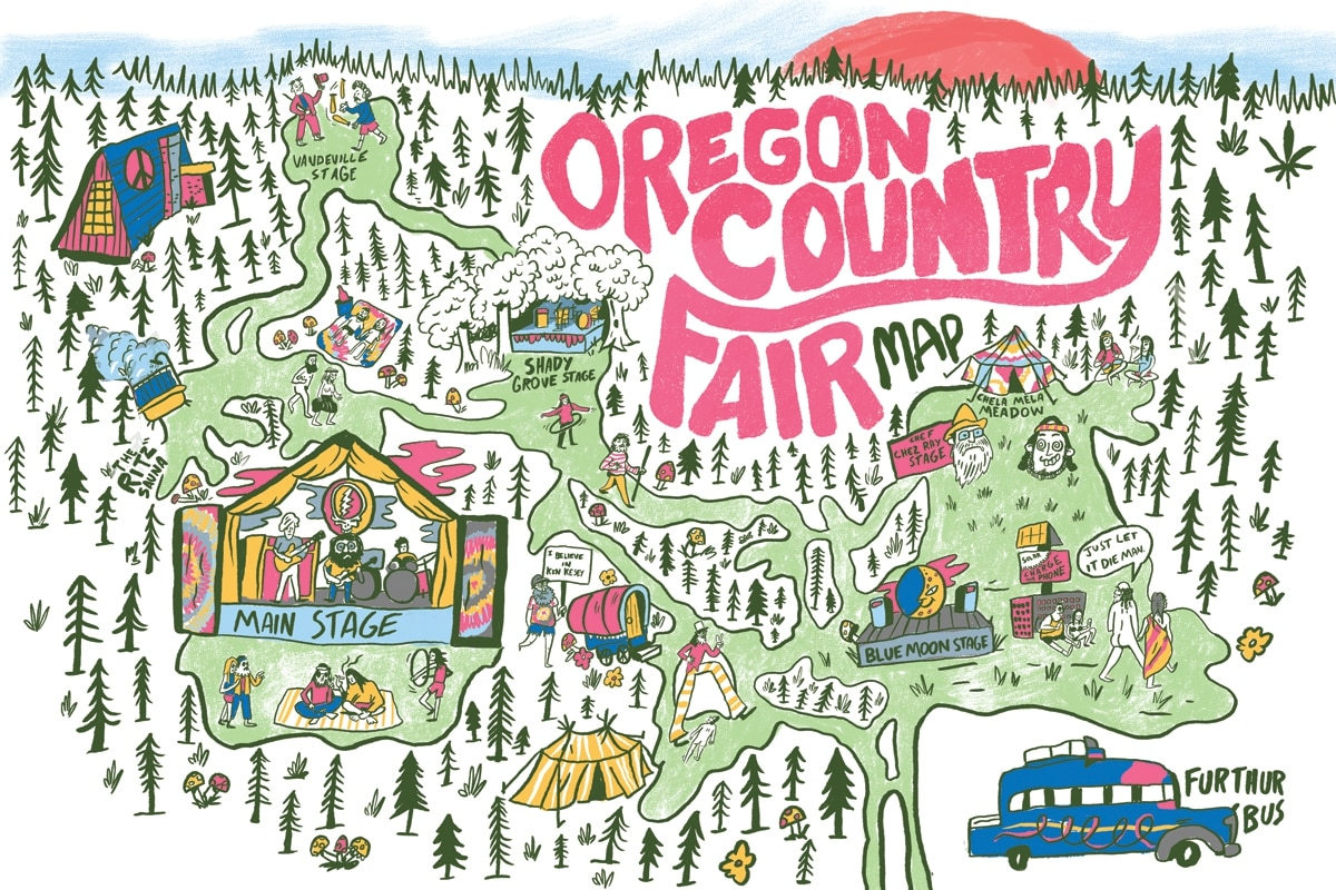 . here's an annotated oregon country fair map  willamette week