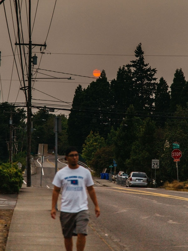 Ash falls on Portland on Sunday, Sept. 4. (Emily Joan Greene)