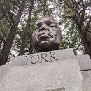 York bust on Mount Tabor. (Aaron Mesh)