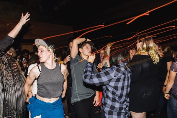 GOING OUT: Revelers at Lez Do It, a monthly inclusive party for trans women, genderqueer people and others at Killingsworth Dynasty club.(Christine Dong)