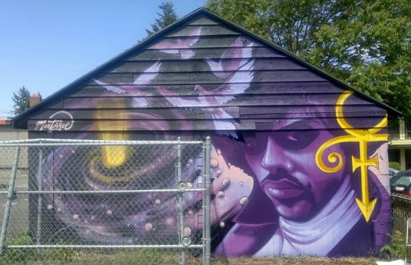 Prince Mural – photo by Ashley Montague