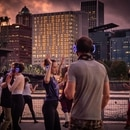 Silent dance party, Eastbank Esplanade. (Brian Burk)