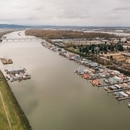 Levees along the Columbia Channel. (Henry Cromett)