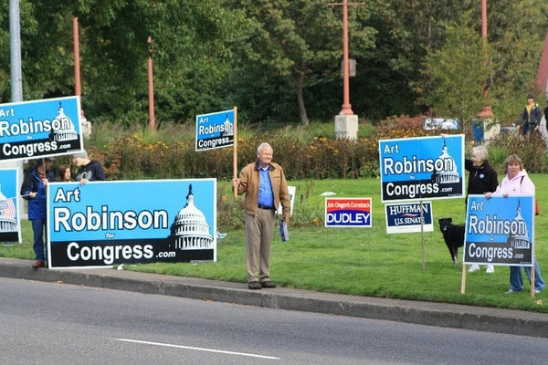 Art Robinson campaigns in 2008. (Art Robinson for Congress)
