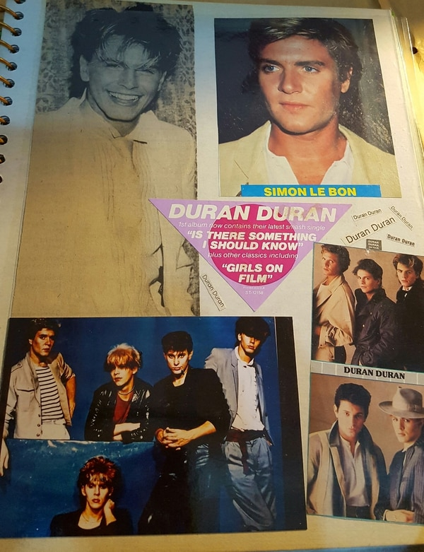 Karyn Smith's Duran Duran scrapbook.