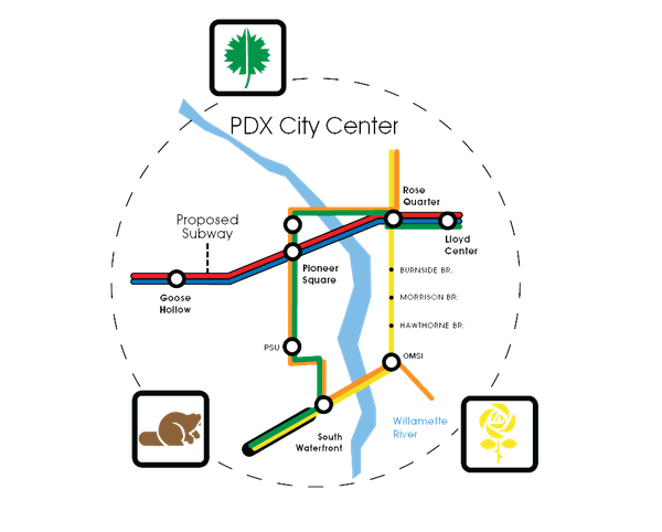 Portland's Fantasy Transit Map: What If We Spent Billions To Fix the on