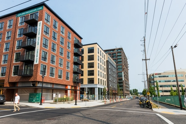 The Carson and other apartments springing up in Slabtown. (Justin Katigbak)