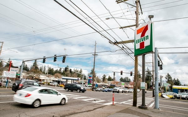 DEADLY INTERSECTION: Southeast Stark is one of Portland's most dangerous streets. The intersection at 146th spans 65 feet directly next to a residential neighborhood where commutes are essential.(Sam Gehrke)