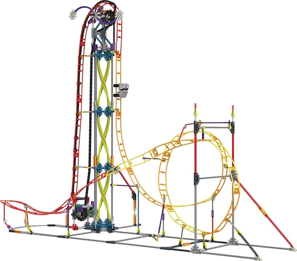Six year old me would be reduced to tears trying to assemble this badass roller coaster. (KNEX)