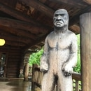 Bigfoot log carving, Camp 18 Restaurant in Elsie, Ore. (WW staff)