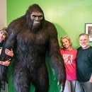 (From left) Scott Minton, Melissa Barackman and Cliff Barackman, with Murphy (center)(Wesley Lapointe)