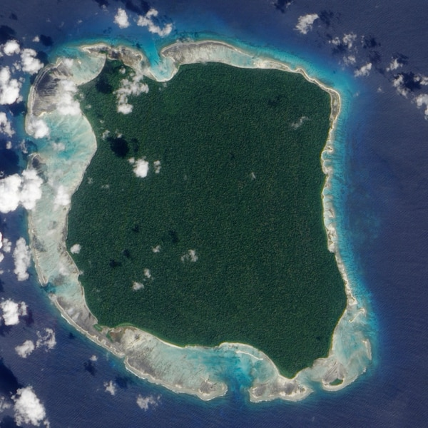 North Sentinel Island (NASA Earth Observatory image created by Jesse Allen, using data provided by the NASA EO-1 team)