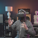 360-DEGREE REALITY: Myles de Bastion uses VR to restore the sense of physical space needed for ASL. (Myles de Bastion)