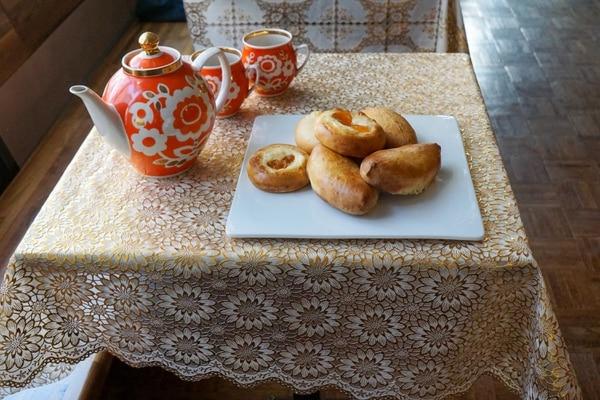 Assorted piroshki from Kachka Lavka. Photo by Caitlin Collins.