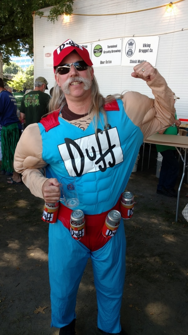 Duffman came to opening day, oh yeah!