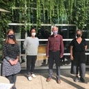 U.S. Rep. Earl Blumenauer (center) pictured with chef and restaurateur Naomi Pomeroy, Han Oak owner and executive chef Peter Cho, and Erika Polmar, chief operating officer of the Independent Restaurant Coalition.