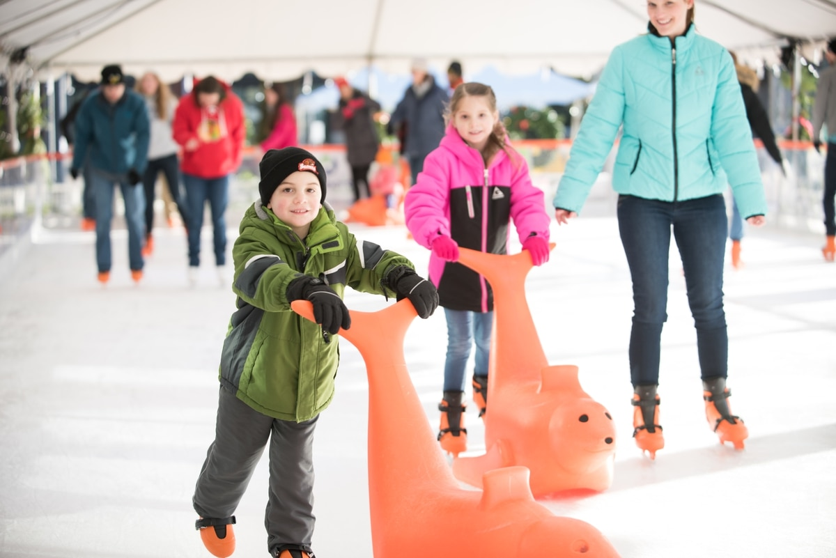 a portland suburb will have a pop up outdoor ice skating rink