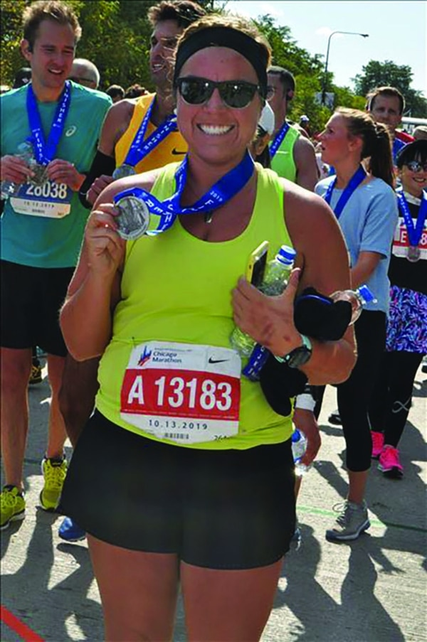 Clark finished the 2019Chicago Marathon onOct. 13. She was disqualified two weeks later.