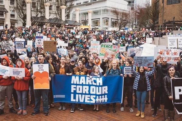 March for Our Lives, Portland, March 24, 2018. (CJ Monserrat)