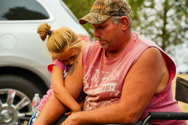 Blake House and his daughter Paisley were ordered to leave the town of Colton. (Alex Wittwer)