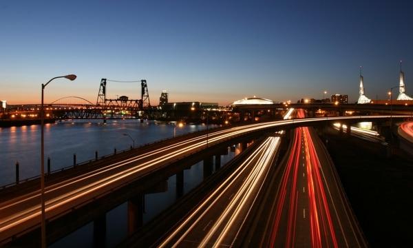 Interstate 5 on the Inner East Side of Portland. (Christopher Onstott)