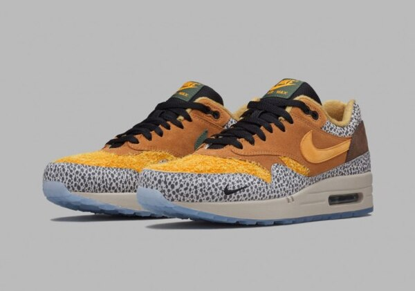 Air Max 1 'Safari', available March 14 through the Nike SNKRS App. (Courtesy of Nice Kicks)