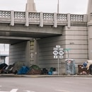 Homeless camps in the Central Eastside. (Joe Riedl)