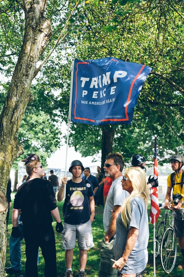 An August protest in downtown Portland. (Daniel Stindt)