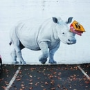 Mural by Josh Keyes at Southeast 17th and Morrison. IMAGE: Rosie Struve.
