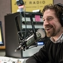 Program Director Matt Fleeger in the KMHD Studios. IMAGE: Courtesy of Matt Fleeger.
