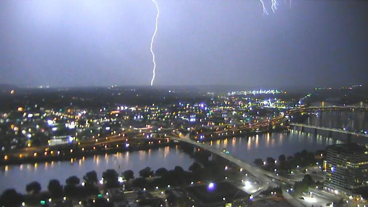 Portland Skies Crackled With Lightning Early This Morning