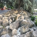 Boulders placed by ODOT near the ramp to Highway 26 in Southwest Portland. (WW staff)