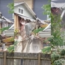 Residential demolition. (Courtesy of Daniel Forbes)