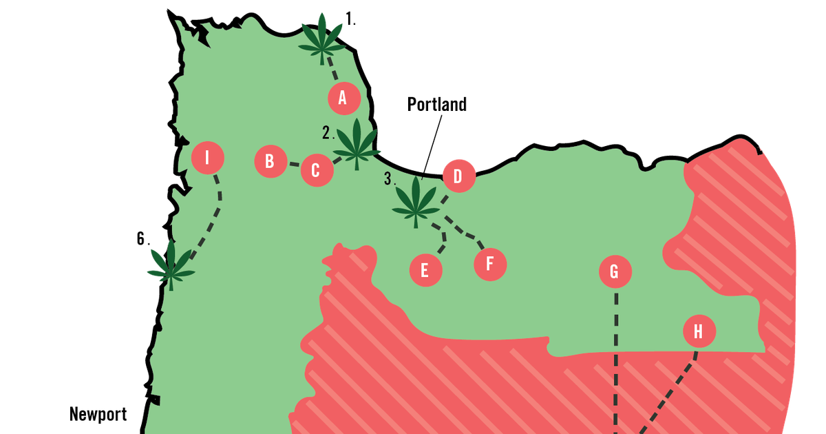 Oregon S Counties Still Living Under Cannabis Prohibition Mapped