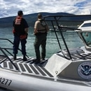 A U.S. Customs and Border Protection boat on the Canadian border. (Photo by Petty Officer 3rd Class Jonathan Klingenberg)