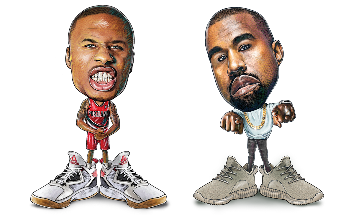 best website 63be7 95fbf Yeezy Who Is the Michael Jordan of the Adidas Line We compare Damian  Lillard and Kanye West.