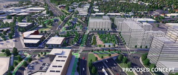 Highway lid renderings (I-5 Rose Quarter Improvement Project)