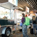 Food carts in Portland International Airport. (Thomas Teal)