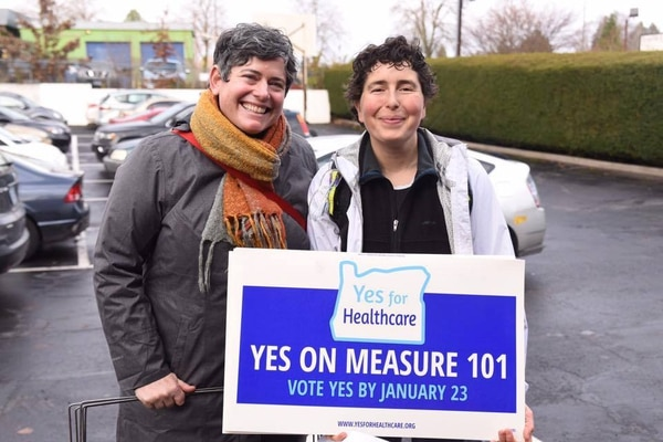 Measure 101 supporters rallied in Eugene on Dec. 3.