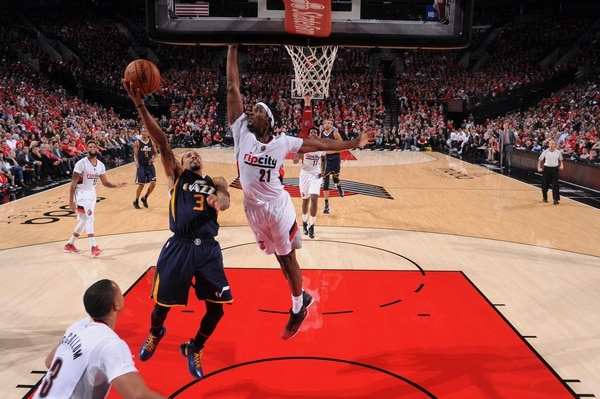 Trail Blazers face the Utah Jazz on October 25, 2016. Sam Forencich / Trail Blazers