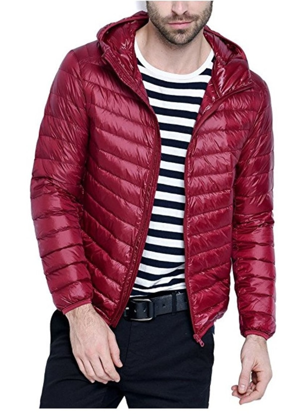 Two red jackets in a row. (Amazon)