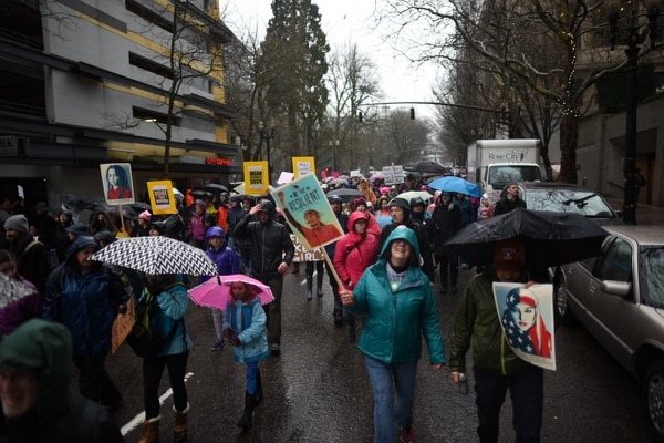 Women's March on Portland. (Joe Riedl)
